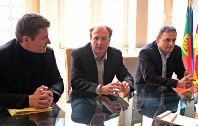 David Valence, Simon Leclerc et Yves Séjourné.