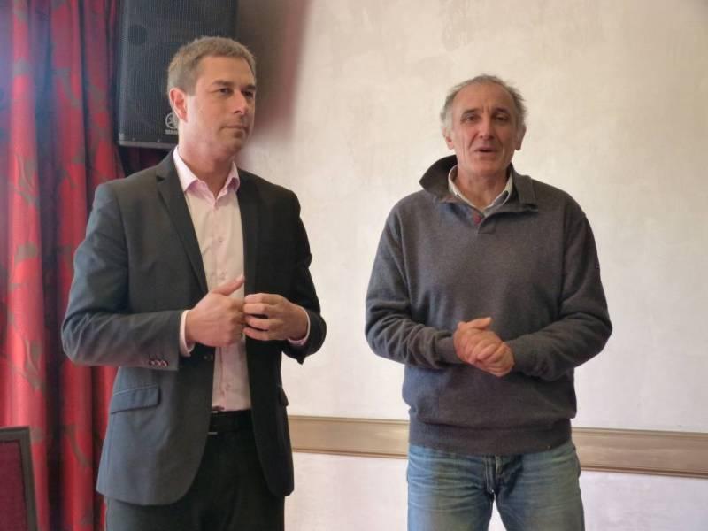 Stessy Speissmann et André Bouvard, directeur de production