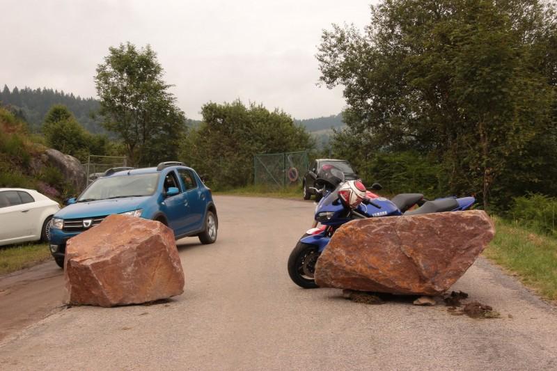 Dans les Vosges, une route d'accès à un événement majeur le dimanche 24 juillet 2016.