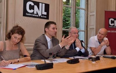 De gauche à droite : Emmanuelle Bensimon-Weiler, David Valence, Christian Pierret, Gilles Fumey.