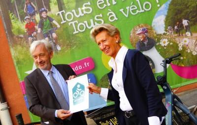 Benoît Jourdain, vice-président du département des Vosges en charge du tourisme, et Elisabeth Del Genini, adjointe au maire d'Epinal en charge du tourisme