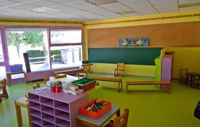 Image d'archives - La salle de classe de l'école maternelle totalement rénovée.