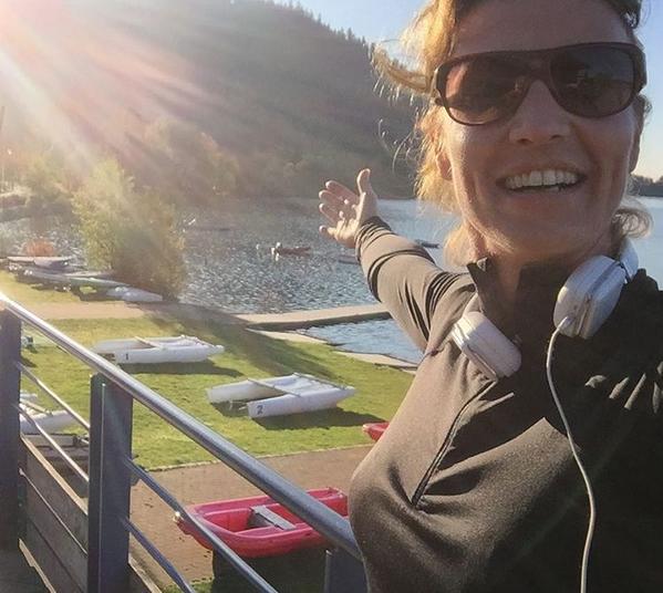 Séance jooging aux bords du lac de Gérardmer (photo Instagram)