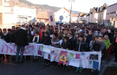La marche blanche du 29 novembre en hommage à la victime