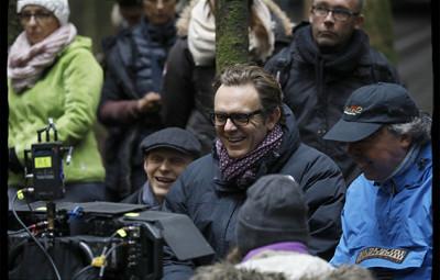 """© Alain Guizard / VERTIGO Productions. Tournage de """"Nos Patriotes"""", un film réalisé par Gabriel LE BOMIN. Plateau de la Délivrance, route forestière entre Vanémont et le Haut Fer de Brouaumont. Le 20 octobre 2016."""