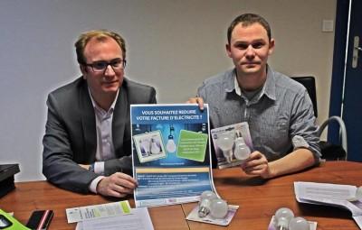 Simon Leclerc, président de la CCBN et Nicolas Ney, chargé à l'urbanisme et habitat