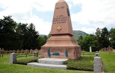 La nécropole nationale française des Tiges de Saint-Dié-des-Vosges.