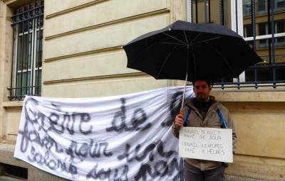 L'ancien veilleur de nuit est en grève de la faim devant le Conseil départemental des Vosges depuis ce lundi