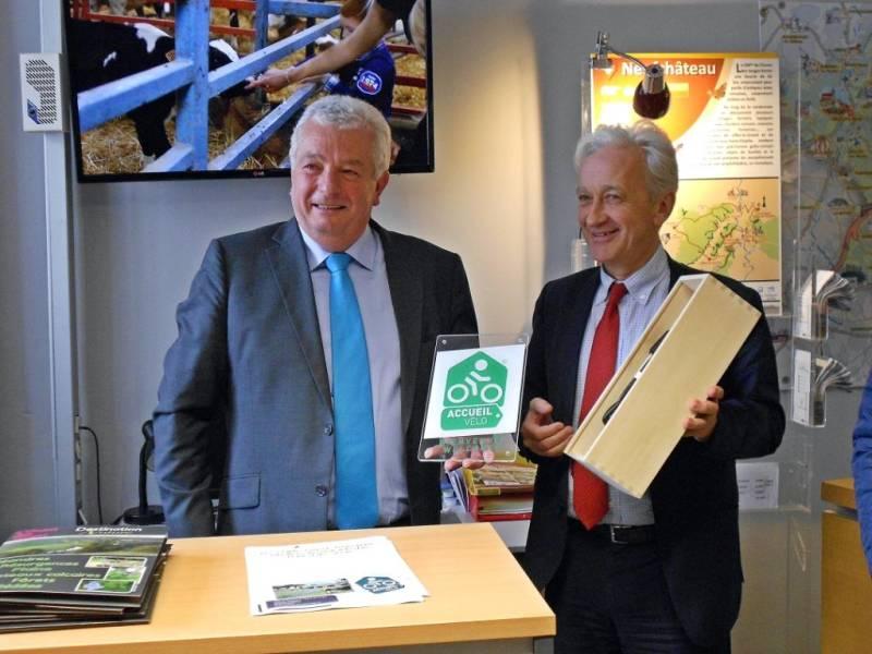 Philippe Emeraux, président de l'Office de Tourisme et Benoît Jourdain, vice-prédisent du Conseil départemental