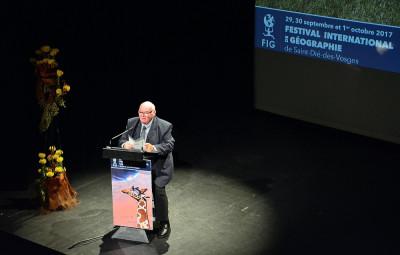 Michel Pastoureau, historien médiéviste et président du FIG 2017, a prononcé sa leçon inaugurale ce vendredi soir.