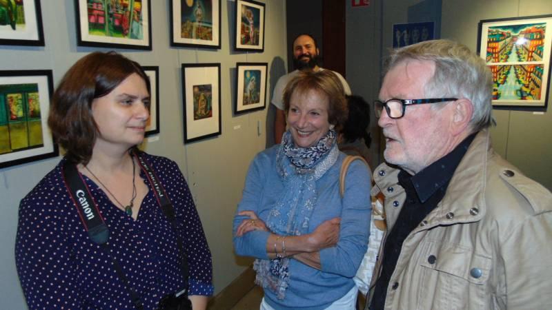 Sandrine Stoïanoc avait même reçu la visite de l'un de ses anciens professeur des Beaux Arts