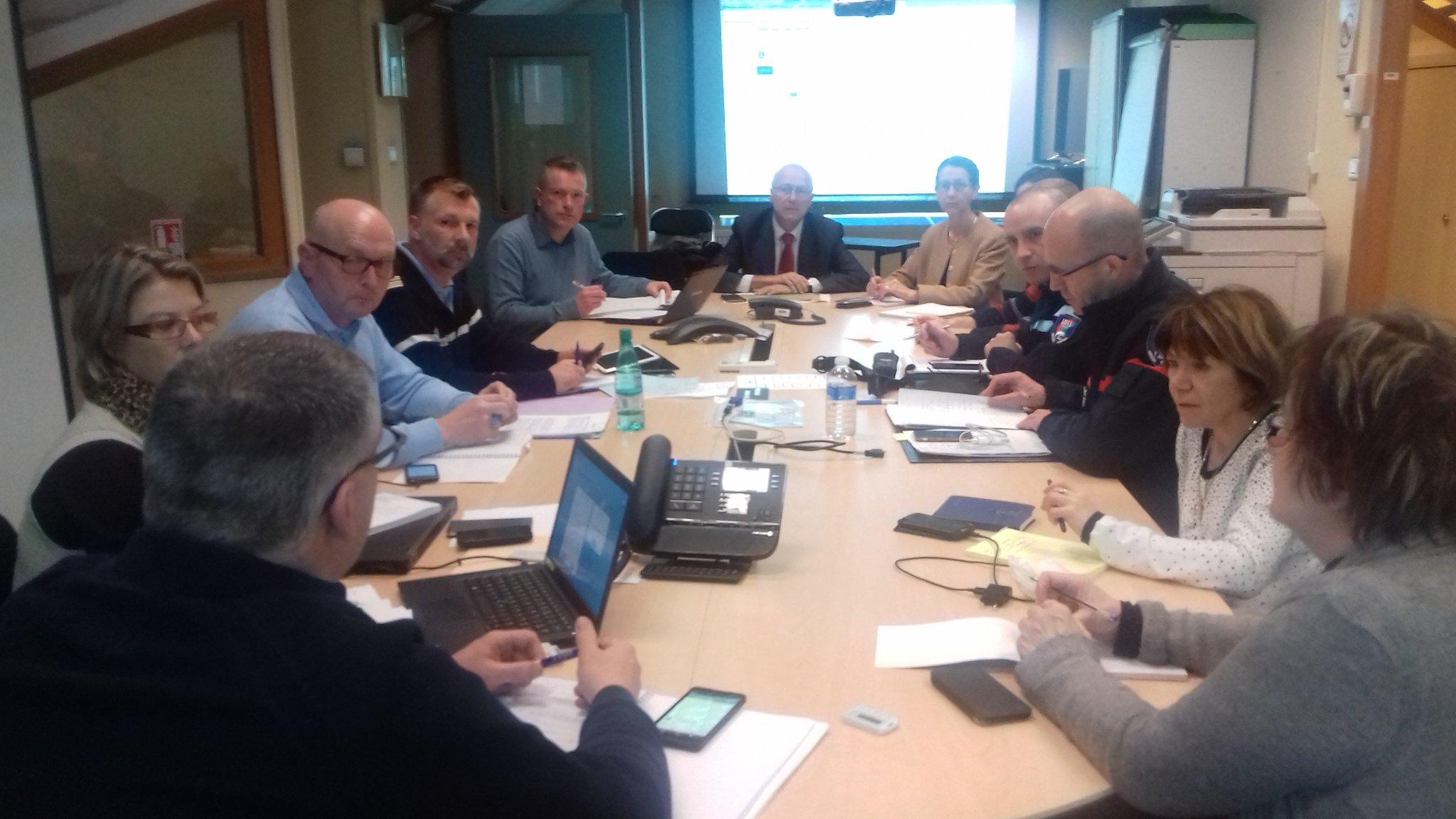 Le préfet des Vosges a activé le Centre Opérationnel Départemental (COD) (Photographie Préfecture des Vosges)