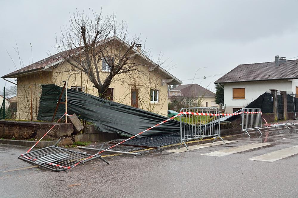 La tempête Eleanor a entraîné un certain nombre de dégâts.