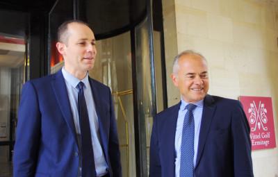 Le sous-préfet Benoît Rochas (à gauche) et le député Jean-Jacques Gaultier.