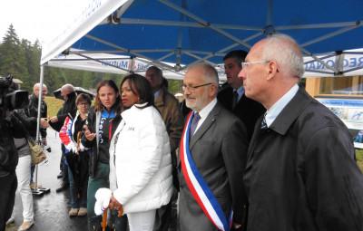 Laura Flessel, ministre des sports, s'est déplacée à La Bresse ce samedi 25 août pour une visite en trois temps.