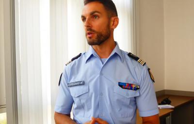Lieutenant-colonel Brice Mangou.