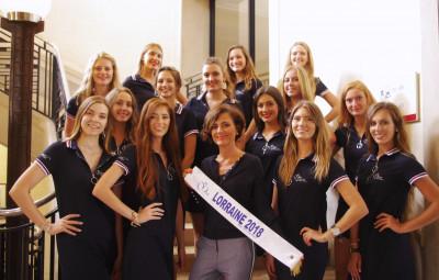 Stéphanie Didon (au centre) présidente du comité régional Miss Lorraine et déléguée au comité Miss France.