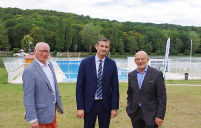 Visite du président de la commission tourisme du Grand Est, Jackie Helfgott (à droite).