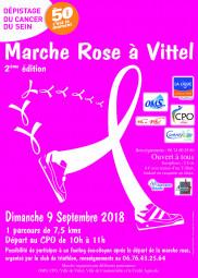 Une marche pour la bonne cause, celle du dépistage du cancer du sein.