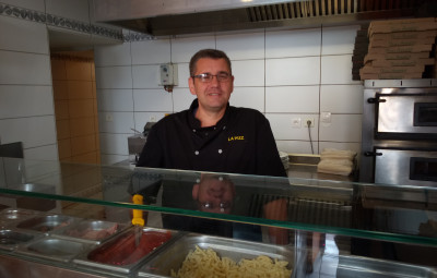 Jimmy Colin, nouveau propriétaire de la pizzeria