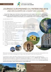 Journées du patrimoine Ouest Vosgien