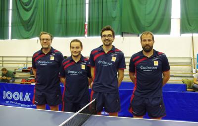 L'équipe vittellois composée de Nicolas Hélix, Arnaud Milliotte, Nicolas Guérard et Benjamin Meyran (de g. à dr.).