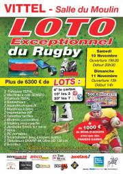 Affiche du loto du rugby