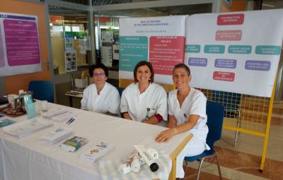 Christine Baudon (psychologue), Nadine Serrier et Audrey Mongin (infirmières).