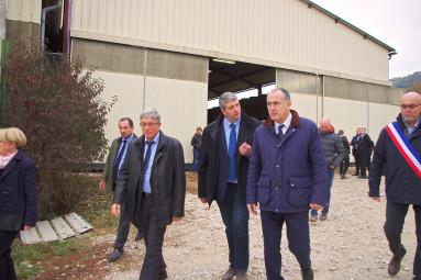 Jusqu'au départ du ministre, Jérôme Mathieu a fait comprendre l'importance de sa venue dans les Vosges.