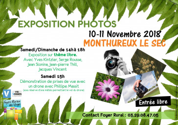 Affiche expo photos Monthureux
