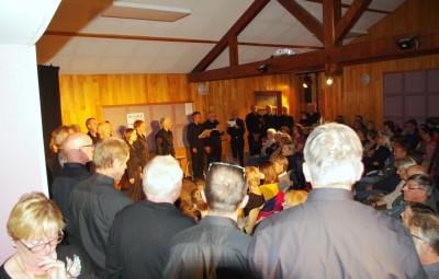 Les chants du choeur d'hommes du CEDEM de Contrexéville ont agrémenté ce spectacle.