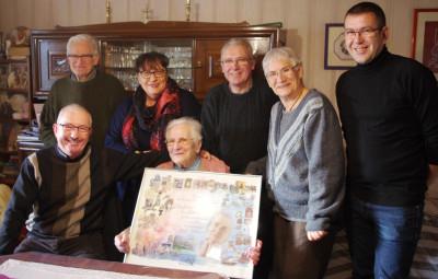 Le département honore le centenaire d'Yvonne Lefort.