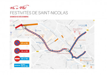 Plan de circulation pour la Saint-Nicolas