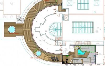 Les travaux de l'établissement thermal concernant l'espace sauna-hammam et terrasse avancent bien, aux dires du maire.
