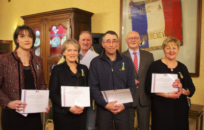 Les médaillés ont été honorés.