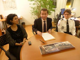 Zahra Anseur, substitut du procureur, Nicolas Heitz, procureur de la République, et le commandant de police Marie-Hélène Villaume.