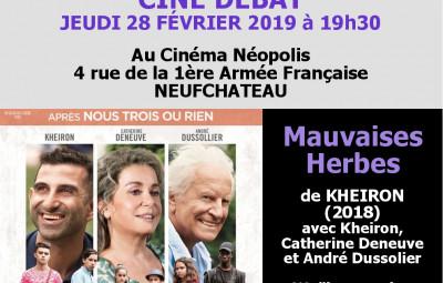 Affiche tout public Ciné Débat 2019