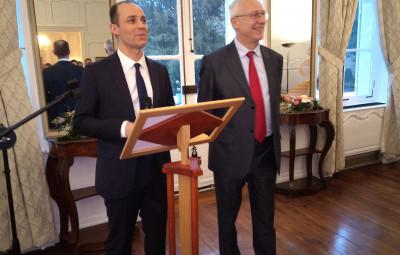 Le sous-préfet néocastrien, Benoit Rochas, a présenté ses voeux au côté du Préfet des Vosges, Pierre Ory (à droite).
