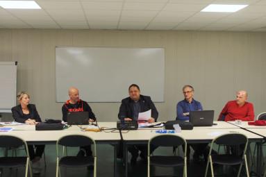 Véronique Perussault, Philippe Germain, Hervé Buffe, Pascal Lambolez, Gérad Hernja (de g. à dr.)