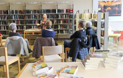 Rencontre avec Elise Fischer à la bibliothèque de Contrexéville.