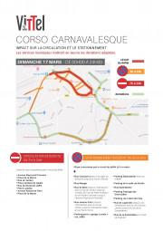 plan de circulation et de stationnement pour le carnaval