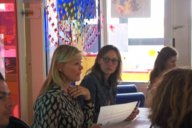 La directrice Isabelle Beurdouche, et la présidente de l'association, Cindy