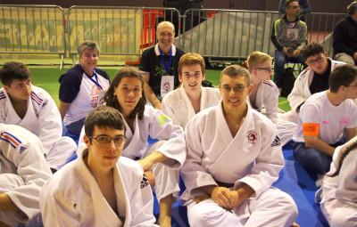 Les judokas du lycée Lapique (Epinal).