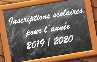 Affiche rentrée scolaire 2019-2020