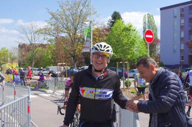 Pascal Perry organisateur et coureur.