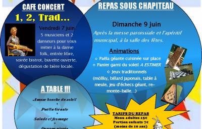 Affiche fête du village à Thuillières