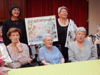 Bernadette Lescoffier était entourée de ses deux filles.