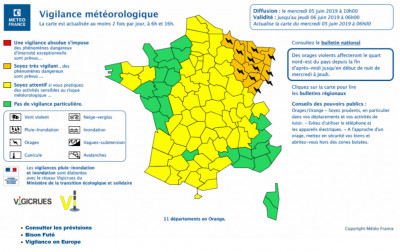 (Crédit carte Météo France)