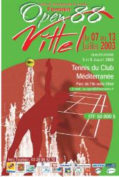 Affiche du premier Open 88 féminin (2003)