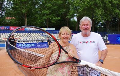 Véronique Perussault (directrice du tournoi) et Eric Perusault (président fondateur)